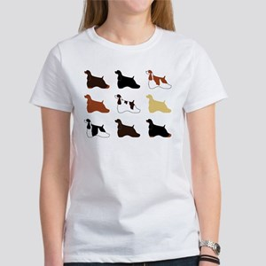 Colorful Cockers Women's T-Shirt