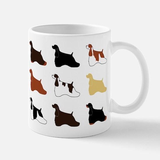 Colorful Cockers Mug