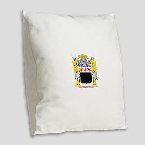 Preist Family Crest - Coat of Burlap Throw Pillow
