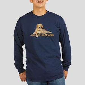 Golden Retriever Painted Long Sleeve Dark T-Shirt