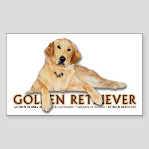 Golden Retriever Painted Sticker (Rectangle)