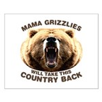 Mama Grizzlies Small Poster