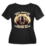 Mama Grizzlies Women's Plus Size Scoop Neck Dark T