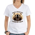 Mama Grizzlies Women's V-Neck T-Shirt