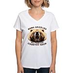 Mama Grizzlies Women's V-Neck T-Shirt