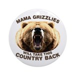 Mama Grizzlies Ornament (Round)