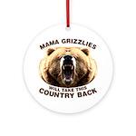 Mama Grizzlies Ornament (Round)