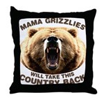 Mama Grizzlies Throw Pillow