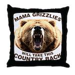 Mama Grizzlies Throw Pillow