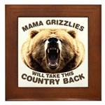 Mama Grizzlies Framed Tile