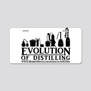 Evolution of Distilling Aluminum License Plate