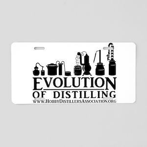 Evolution of Distilling Aluminum License Plate
