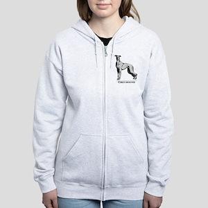 Graphic Greyhound Women's Zip Hoodie