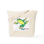 ASL Frog in Flight Tote Bag