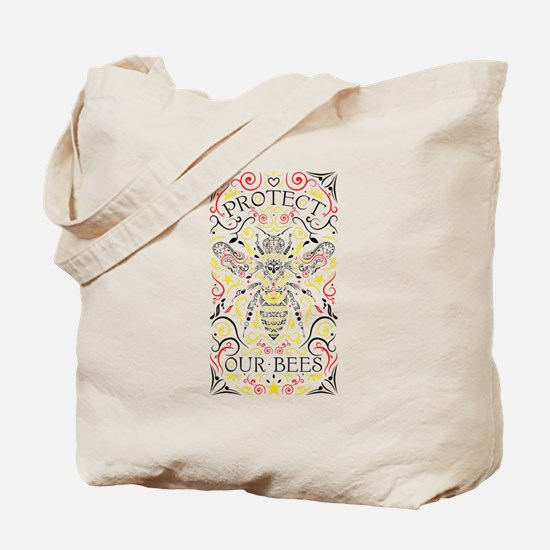 Cute Bee hives Tote Bag