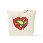 ASL Frog in Heart Tote Bag