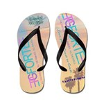 Love From Coast To Coast Flip Flops