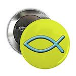 Christian Fish Icthus Button