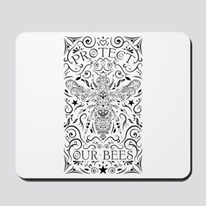 protect our bumblebees Mousepad