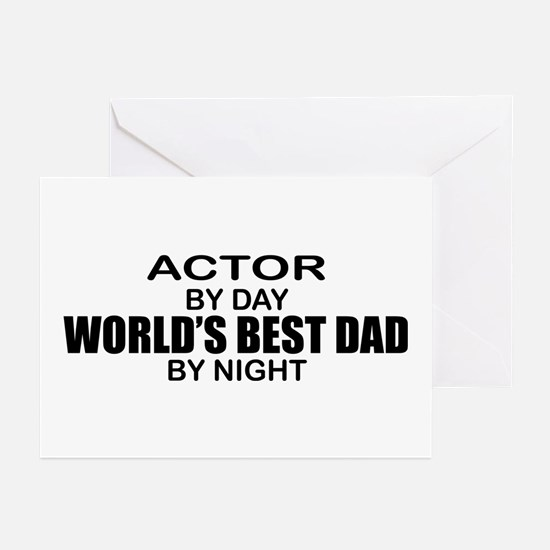 World's Greatest Dad - Actor Greeting Cards (Pk of