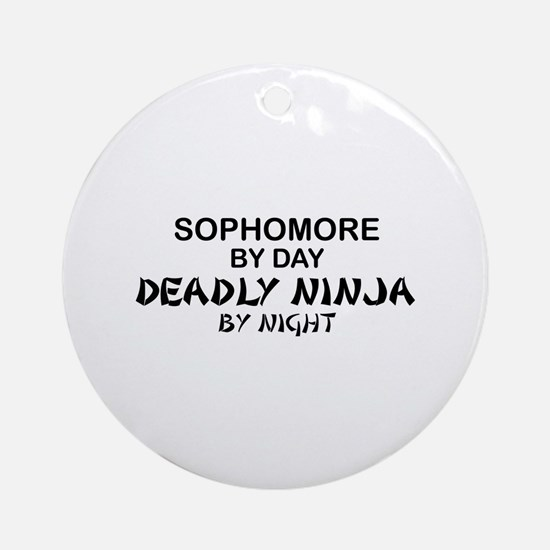 Deadly Ninja by Night - Sophomore Ornament (Round)