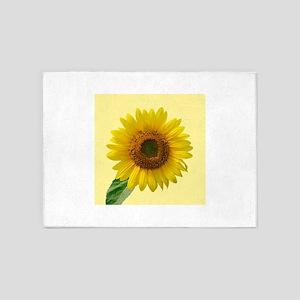 Sunny Sunflower 5'x7'Area Rug