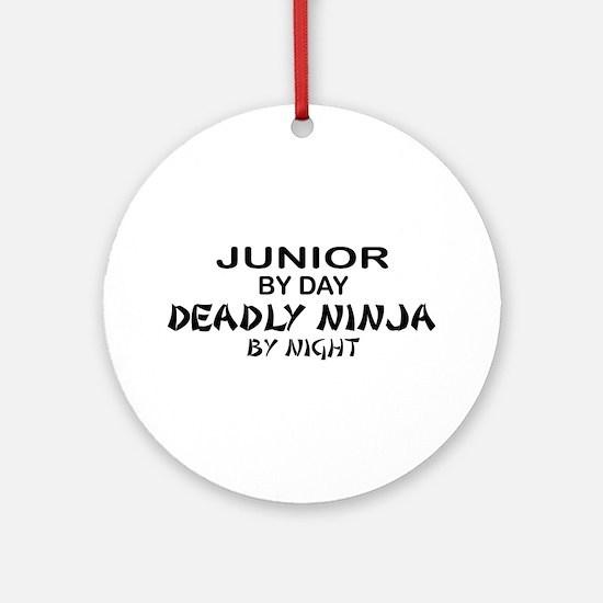 Deadly Ninja by Night - Junior Ornament (Round)