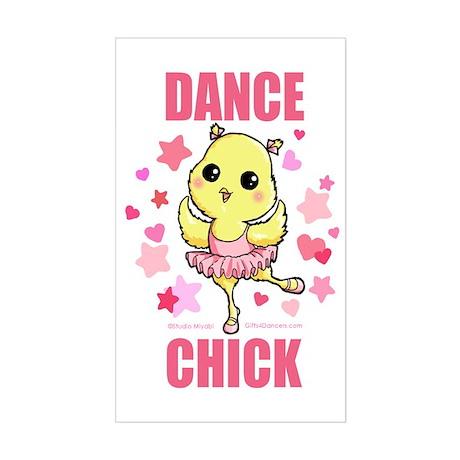 DANCE CHICK Sticker (Rectangle)