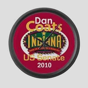 Dan Coats Indiana Large Wall Clock
