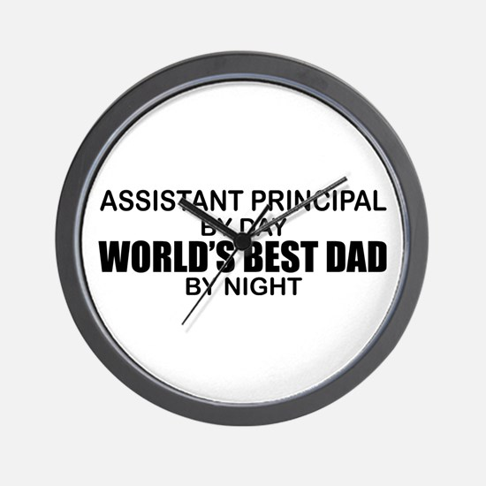 World's Greatest Dad - Asst Principal Wall Clock