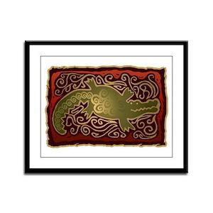 Southwest Design / Petroglyph Framed Panel Print