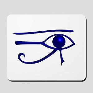 Blue Udjat Egyptian Eye Mousepad