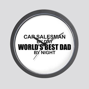 World's Best Dad - Car Salesman Wall Clock