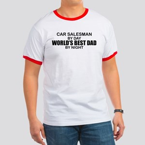 World's Best Dad - Car Salesman Ringer T