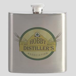 Hobby Distiller's Association Logo Flask