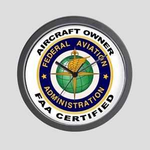 FAA Certified Aircraft Owner Wall Clock