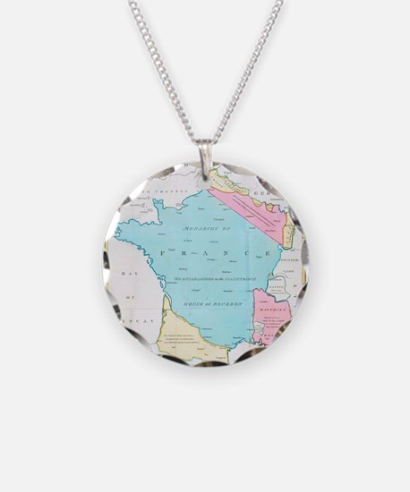 Vintage Map of France (1793) Necklace
