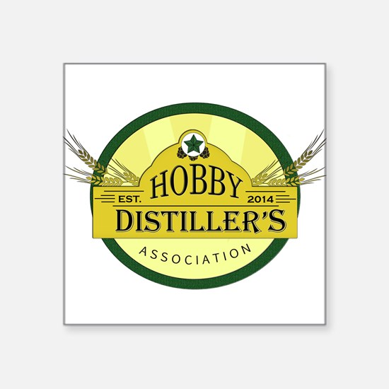 Hobby Distiller's Association Logo Square Stic
