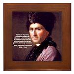 J. J. Rousseau Education Framed Tile