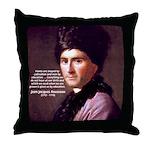 J. J. Rousseau Education Throw Pillow