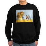 Sunflowers / Yorkie #17 Sweatshirt (dark)