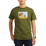 Sunflowers / Yorkie #17 Organic Men's T-Shirt (dar
