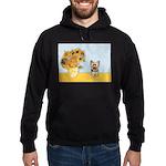 Sunflowers / Yorkie #17 Hoodie (dark)