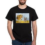Sunflowers / Yorkie #17 Dark T-Shirt
