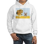 Sunflowers / Yorkie #17 Hooded Sweatshirt