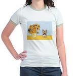 Sunflowers / Yorkie #17 Jr. Ringer T-Shirt