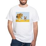 Sunflowers / Yorkie #17 White T-Shirt