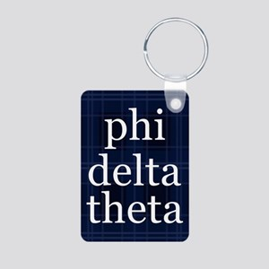 Phi Delta Theta Plaid Aluminum Photo Keychain