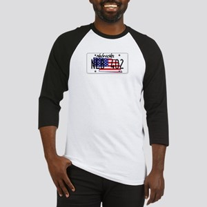 NE USA License Plate Baseball Jersey