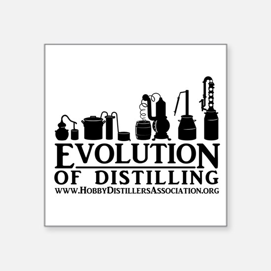 Evolution Of Distilling Square Sticker